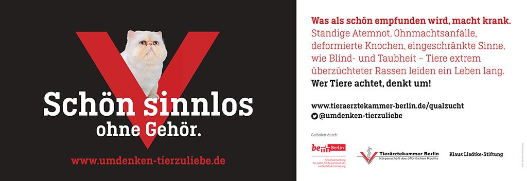Motiv der 3. Qualzuchtkampagne der Tierärztekammer Berlin
